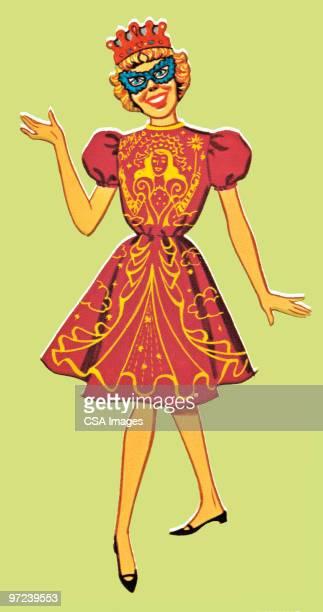 girl in mask - ruler stock illustrations