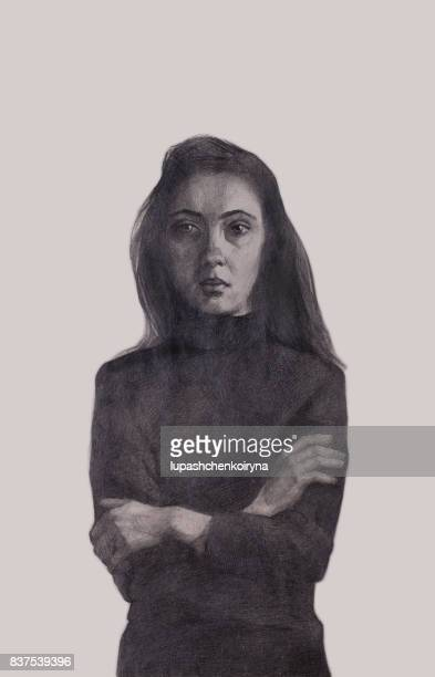girl in the gray - grave stock illustrations, clip art, cartoons, & icons