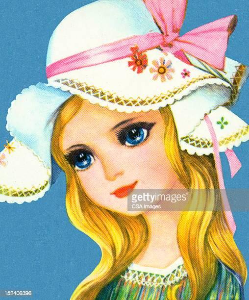 Girl Wearing Floppy Hat