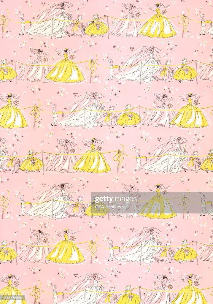 Ragazze in abiti fantasia : Illustrazione stock