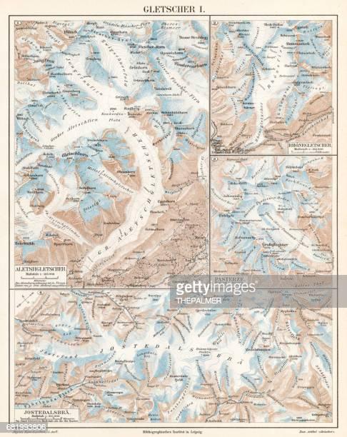 Glacier lithograph 1895