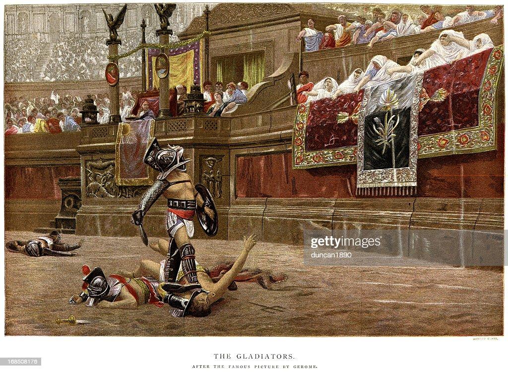 Gladiators : stock illustration