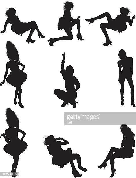 glamorous model posing and modeling - hand on hip stock illustrations, clip art, cartoons, & icons