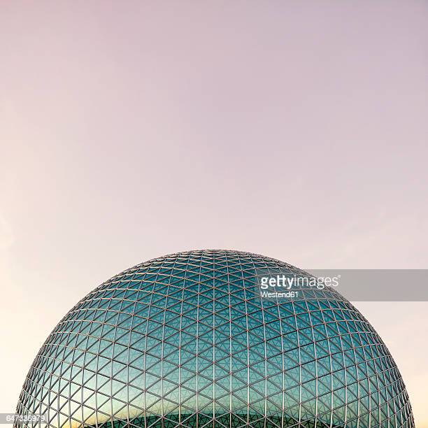 glass dome, 3d rendering - dome stock illustrations