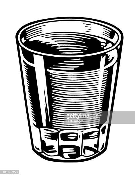 glass full of liquid - whiskey stock illustrations