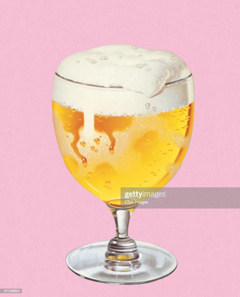 Glass of Beer : stock illustration