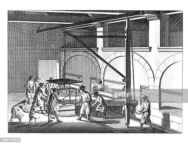 Glass production, Diderot Encyclopedia