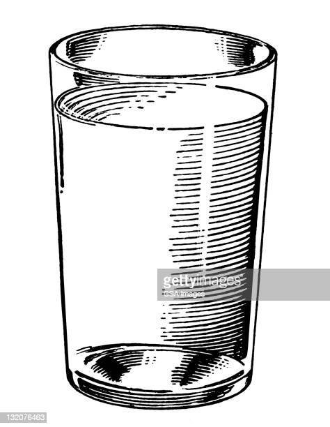 Glass with clear Liquid