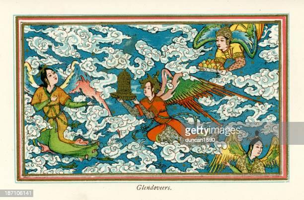glendoveers - hindu god stock illustrations