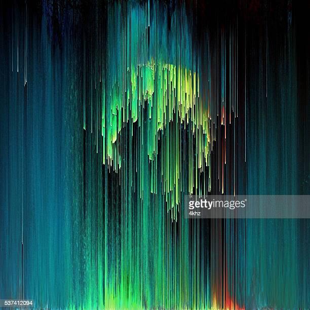 Glitch-Kunst Pixel-Textur abstrakt Giftmüll