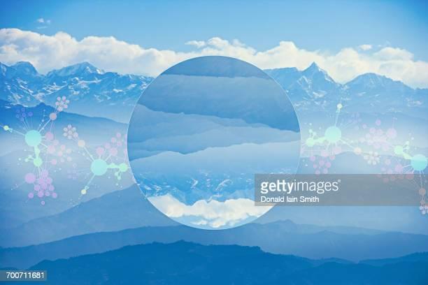 Glitch effect in sky, Kathmandu, Kathmandu Valley, Nepal