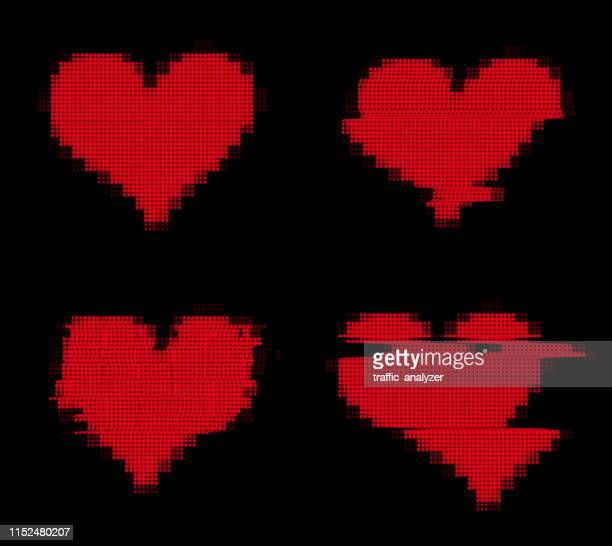Glitchy pixelated heart