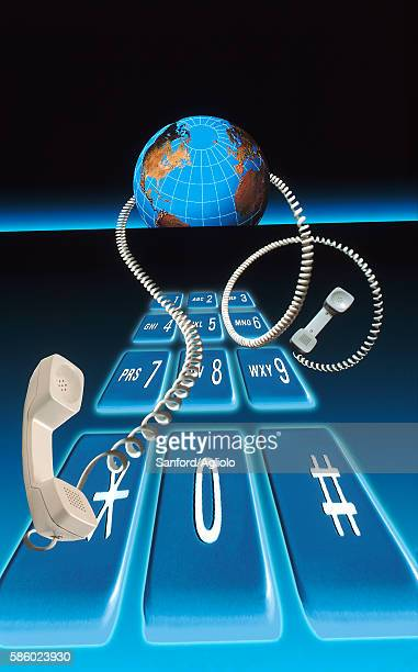 global connections - phone cord stock illustrations, clip art, cartoons, & icons