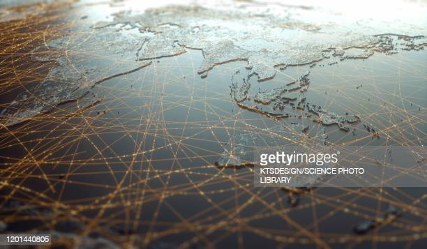global connectivity, illustration - social media stock illustrations