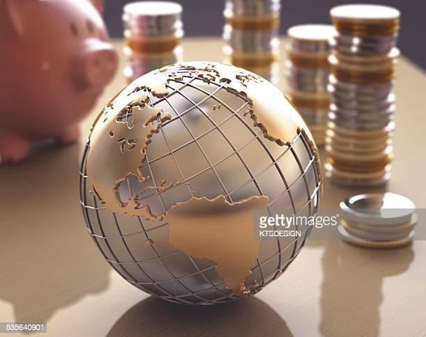 global finance, illustration - finanzen stock illustrations