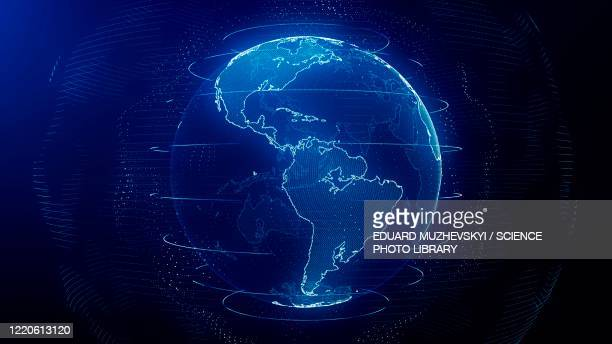global network, conceptual illustration - technology stock illustrations