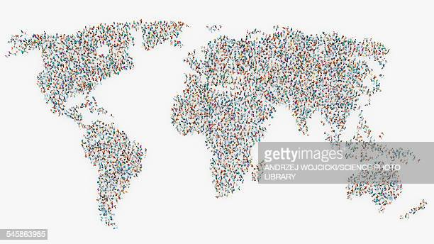 illustrazioni stock, clip art, cartoni animati e icone di tendenza di global population, illustration - esplosione demografica