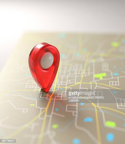 global positioning system marker - journey stock illustrations