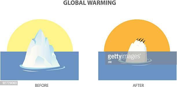 illustrations, cliparts, dessins animés et icônes de réchauffement de la planète - ours polaire