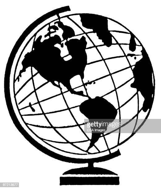 illustrations, cliparts, dessins animés et icônes de globe - hémisphère