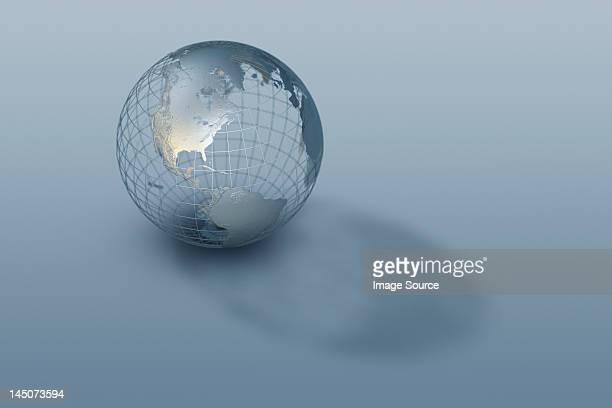 3D globe wire-frame model