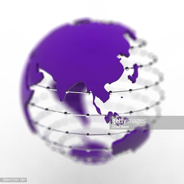 Globe with Asia prominent