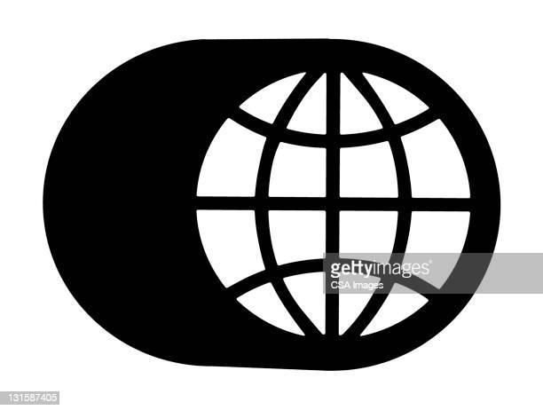illustrations, cliparts, dessins animés et icônes de globe with shadow - hémisphère