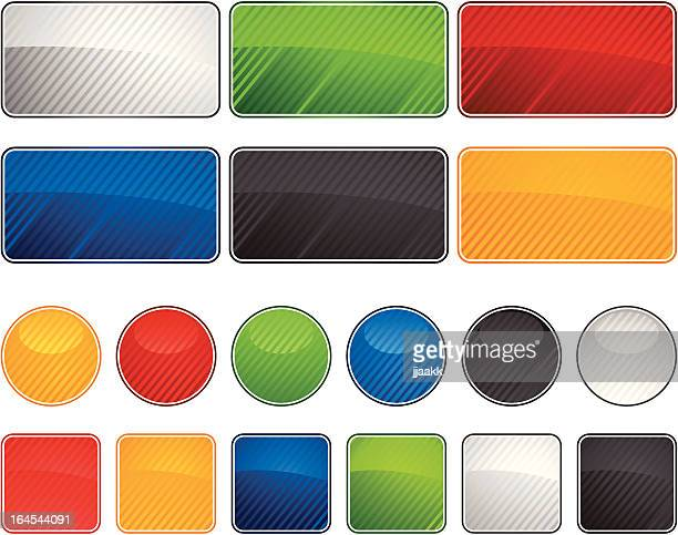 glossy  web buttons - rectangle stock illustrations