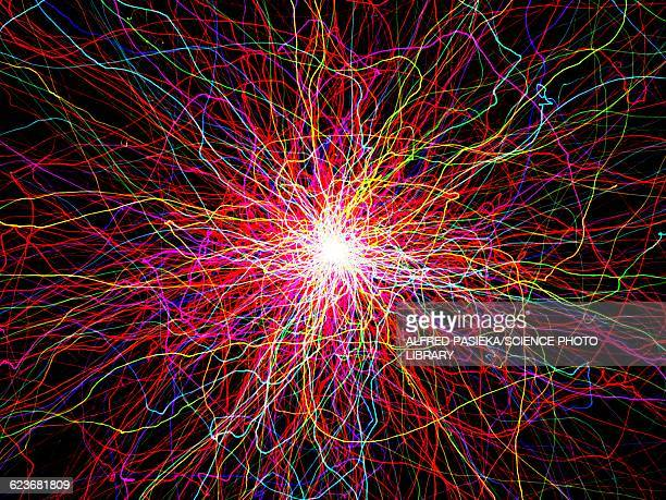 glowing light lines, artwork - physics stock illustrations