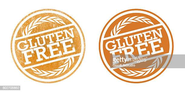 gluten free stamps - labeling stock illustrations, clip art, cartoons, & icons