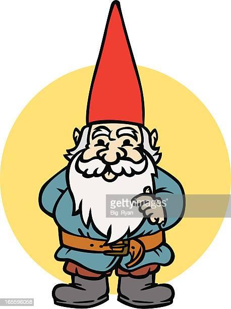 gnome - garden gnome stock illustrations