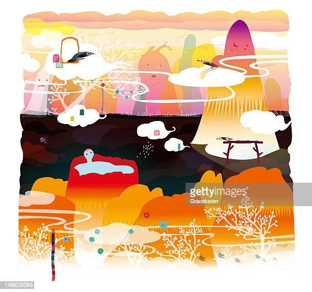 ilustraciones, imágenes clip art, dibujos animados e iconos de stock de go spring hiking - animal vertebrado