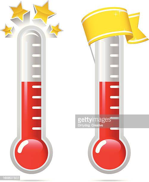 goal thermometers v2 - aspirations stock illustrations