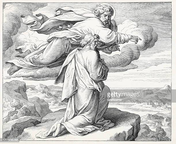 神を示すモーゼズジェリチョ前に彼の死 - 宗教的人物 モーゼ点のイラスト素材/クリップアート素材/マンガ素材/アイコン素材