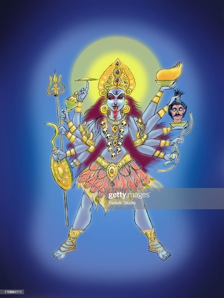 Goddess Kali : Stock Illustration
