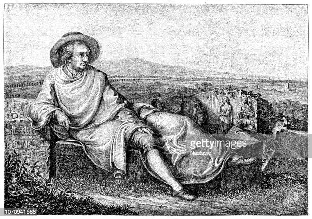 Goethe in the Roman Campagna is a painting from 1787 by Johann Heinrich Wilhelm Tischbein