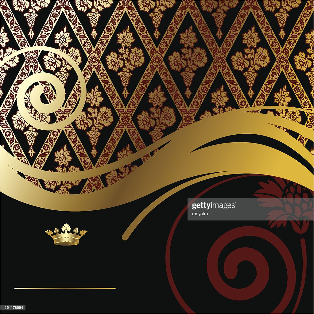Gold baroque background