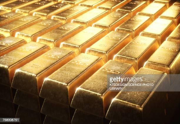 gold bars, illustration - gold stock-grafiken, -clipart, -cartoons und -symbole