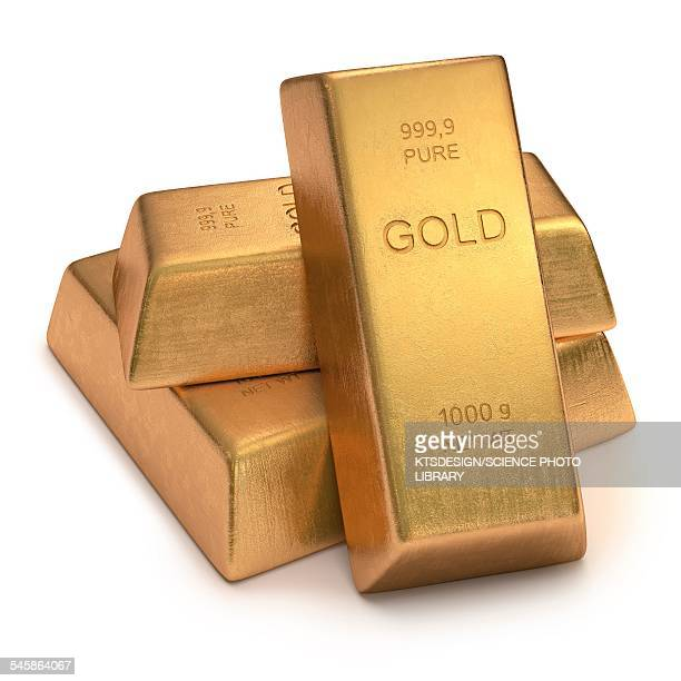 Gold bullion, illustration