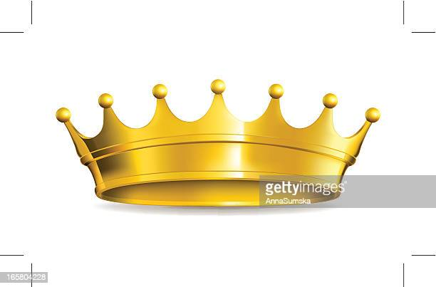 gold crown - queen royal person stock illustrations