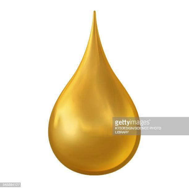 Gold droplet, illustration