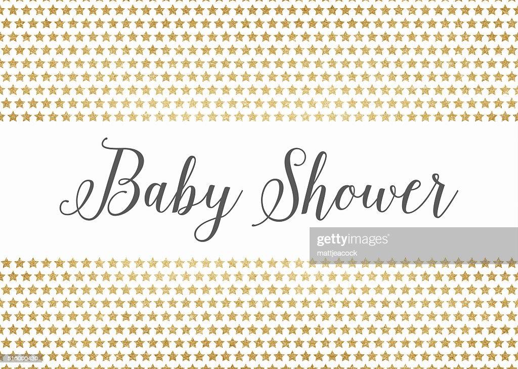 Gold Glitter Babydusche Hintergrund Stock-Illustration | Getty Images