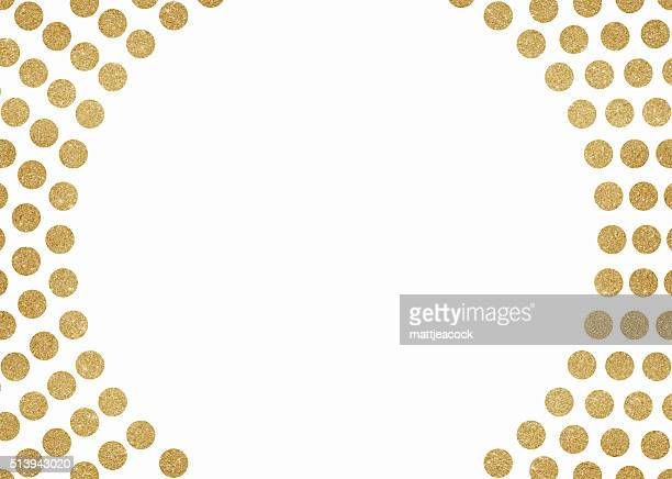 Gold glitter circles background