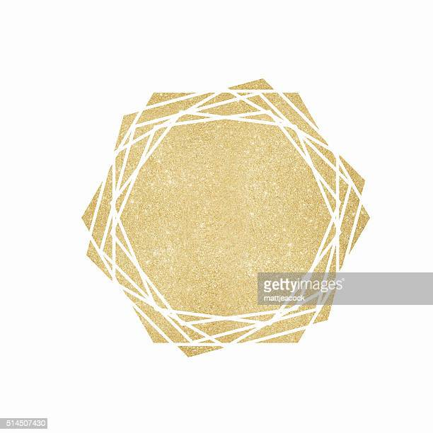 Gold glitter geometric background