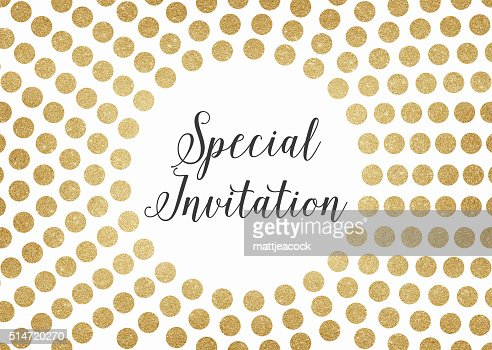 Gold Glitter Special Invitation Background High Res Vector