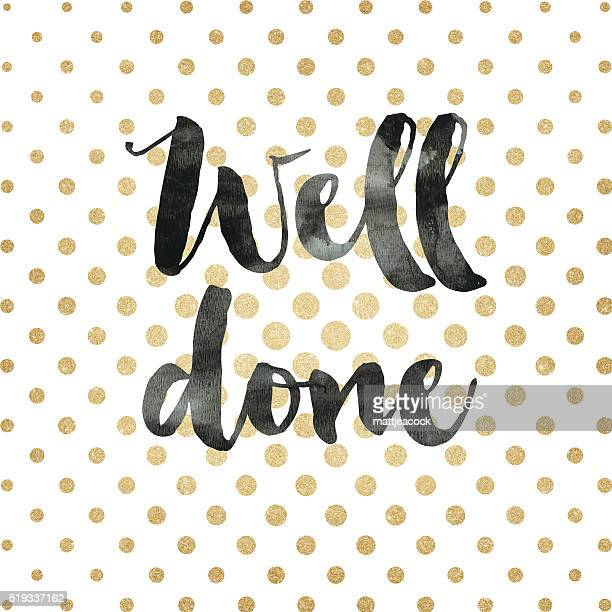 gold glitter well done background - congratulating stock illustrations, clip art, cartoons, & icons
