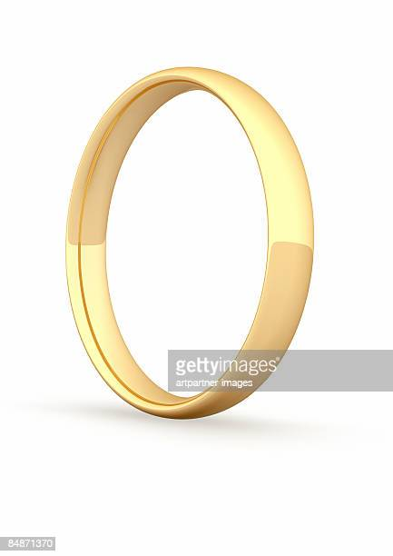 gold ring / gold ring on white background - ring stock illustrations