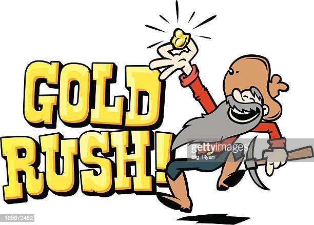 gold rush text - gold rush stock illustrations