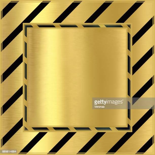ilustraciones, imágenes clip art, dibujos animados e iconos de stock de fondo de oro con líneas diagonales negras - papel de aluminio
