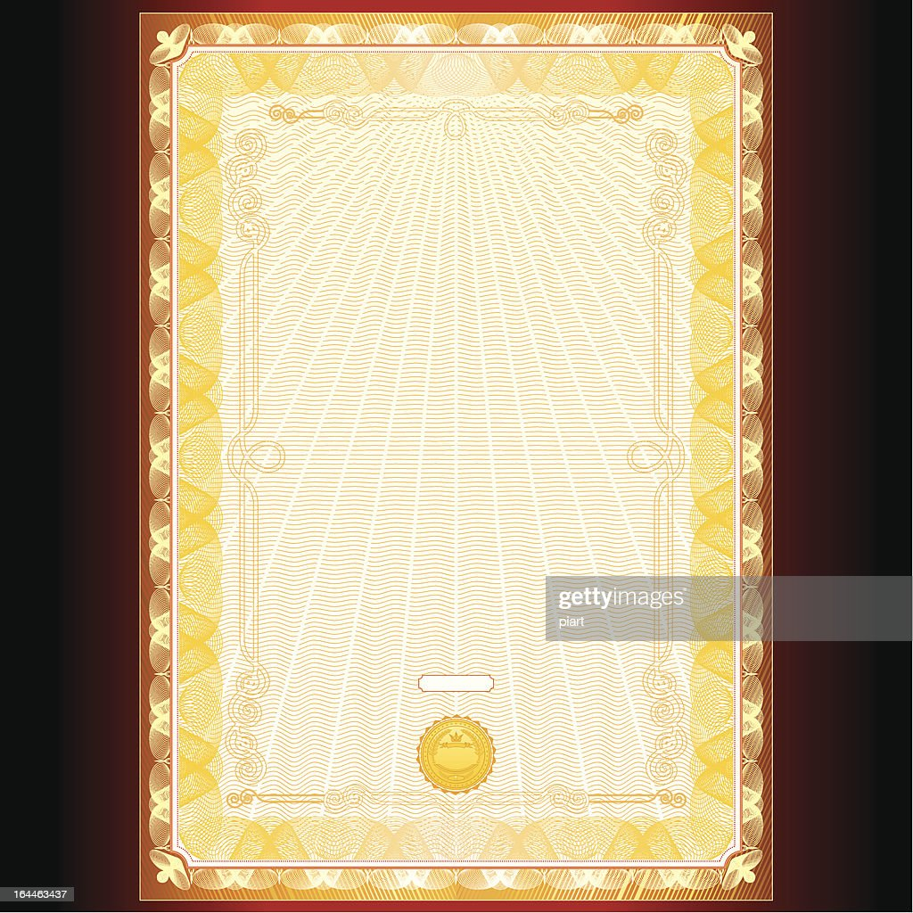 Golden Diploma or Certificate Design